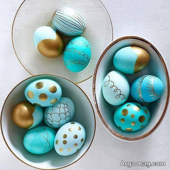 رنگ آمیزی عالی تخم مرغ