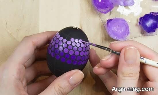 رنگ آمیزی زیبای تخم مرغ با ایده جالب