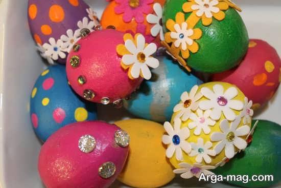 تزیین تخم مرغ با اشکال برجسته