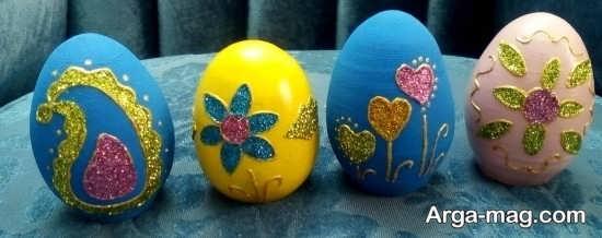 تزیین زیبای تخم مرغ با اشکال برجسته