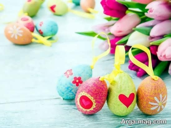 تخم مرغ رنگ شده هفت سین