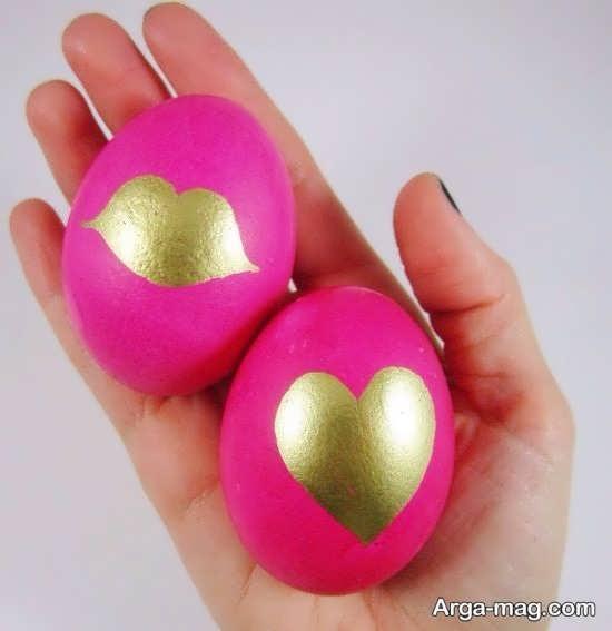 تخم مرغ با رنگ آمیزی زیبا