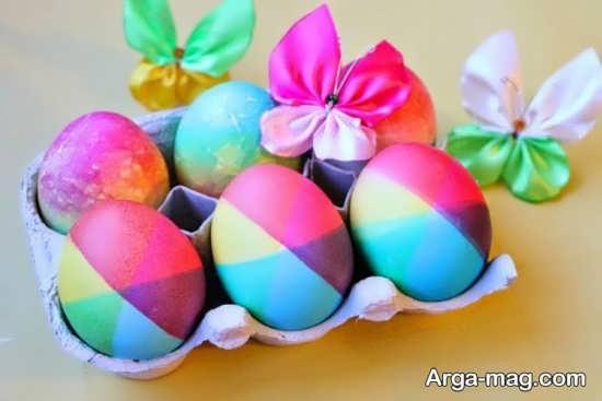 رنگ آمیزی متفاوت تخم مرغ