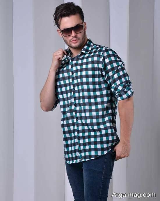 پیراهن چارخونه مردانه