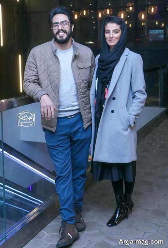 پوریا شکیبایی و همسرش