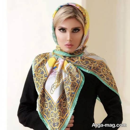 روسری مجلسی آبرنگی شیک