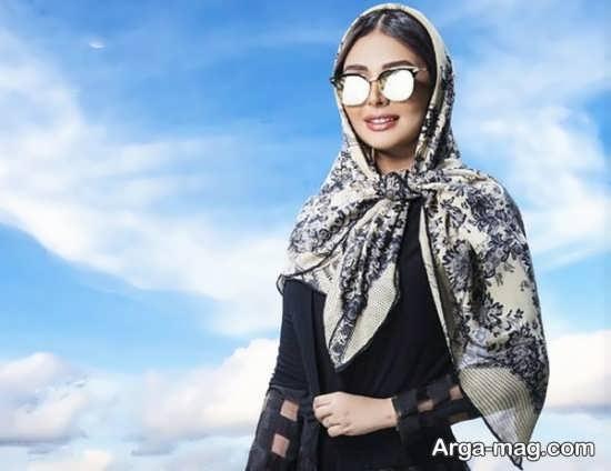مدل روسری حریر مجلسی