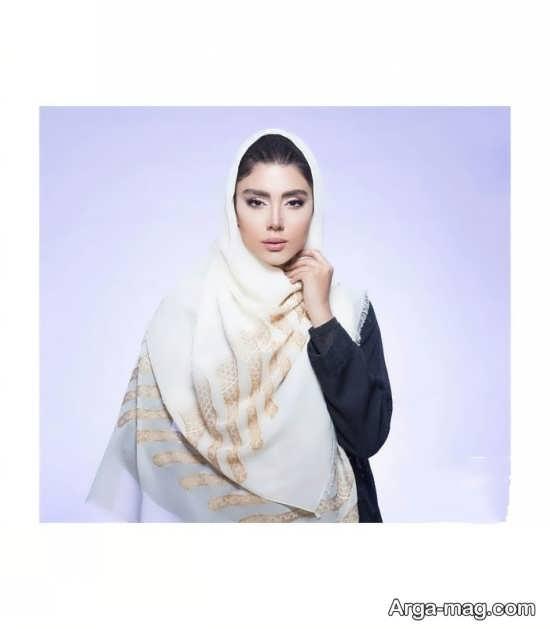 روسری مجلسی ساده و زیبا
