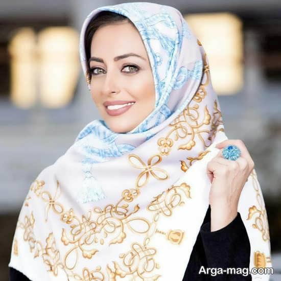 روسری مجلسی با رنگ متنوع