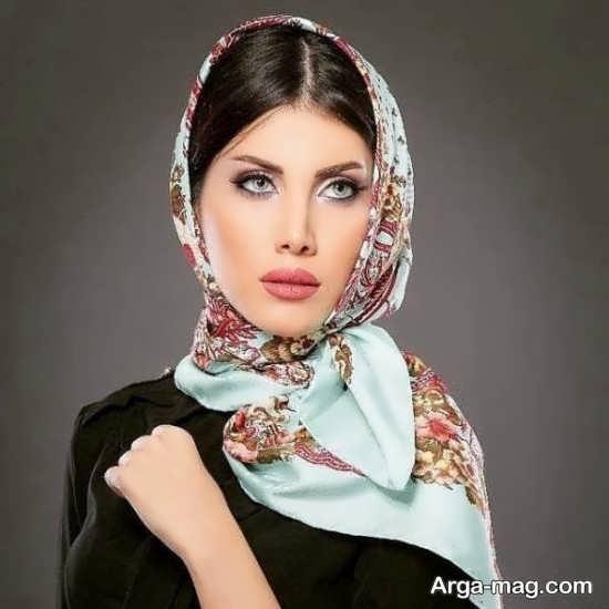 روسری مجلسی با رنگ خاص
