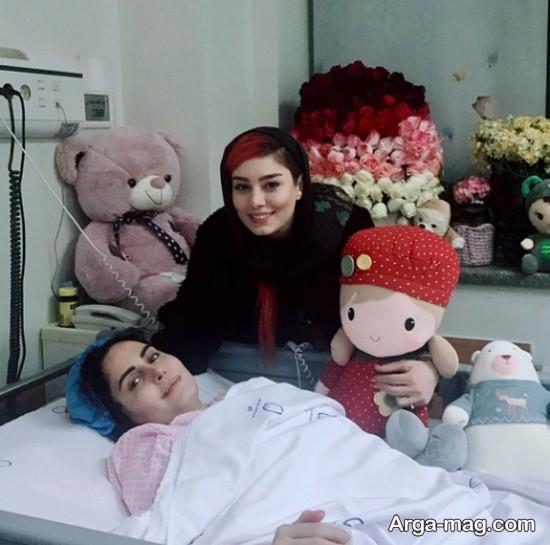 سحر قریشی و بهاره افشاری در بیمارستان