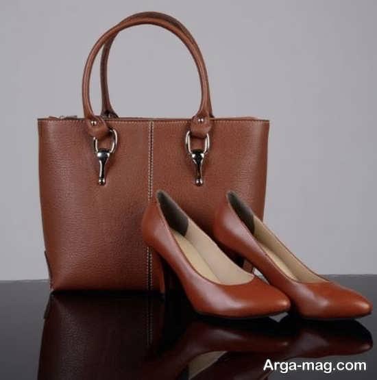 کیف و کفش ست زنانه چرم