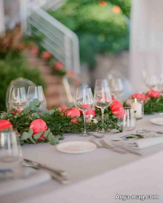 تزیین ایده آل میز شام عروسی
