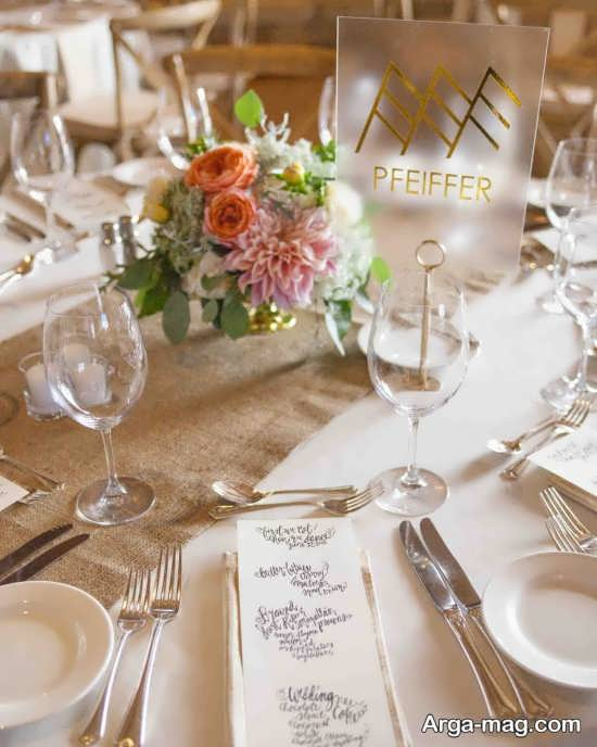 طراحی ایده آل میز شام عروسی با گل