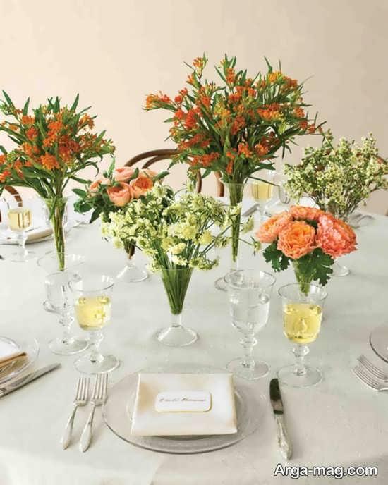 طراحی فوق العاده میز شام عروسی
