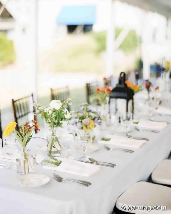 گل آرایی میز شام عروسی