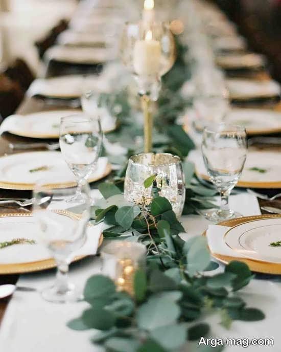 گل آرایی زیبای میز شام