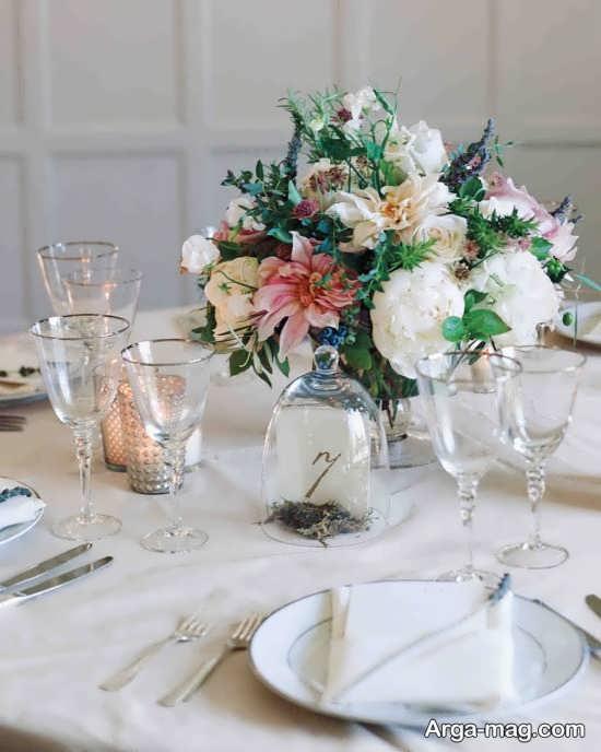 گل آرایی فوق العاده میز شام