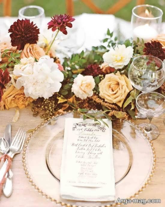 تزیین متفاوت میز شام عروسی