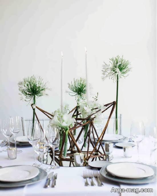 تزیین جذاب میز شام