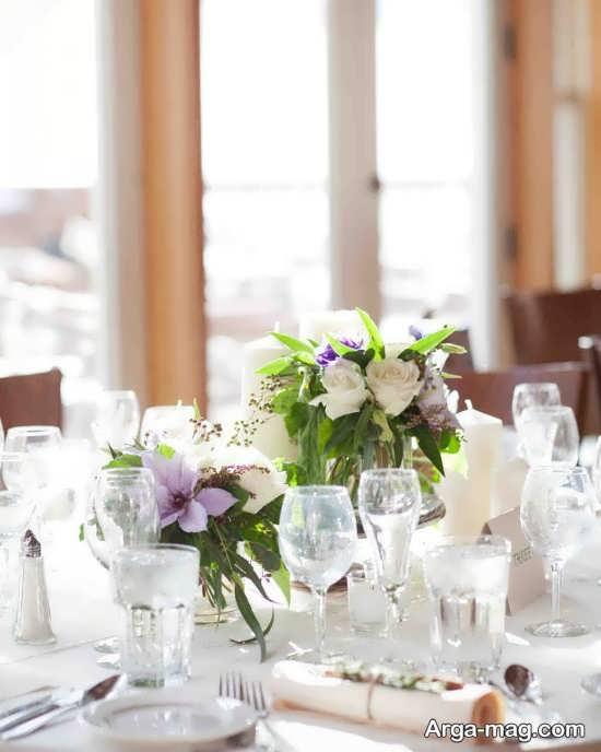 چیدمان ظریف میز شام عروسی