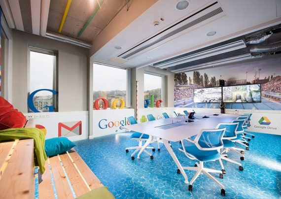 تصاویری از دکوراسیون لاکچری دفتر جدید گوگل