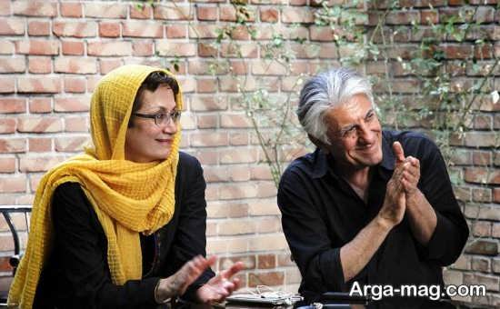 رضا کیانیان در کنار همسرش
