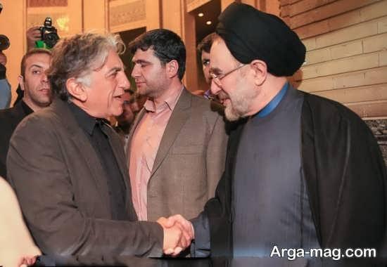 رضا کیانیان در کنار رئیس جمهور