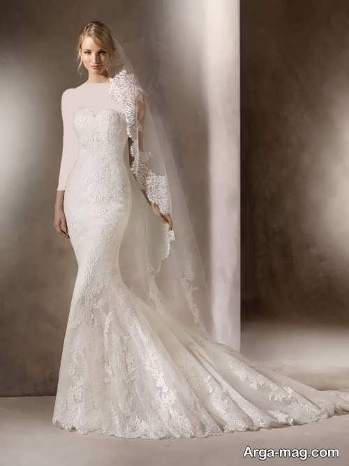 مدل لباس عروس گیپور 97