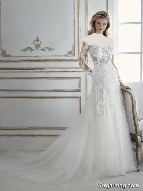 لباس عروس آستین دار 97