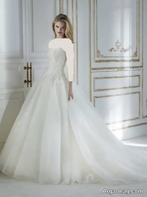 مدل لباس عروس دکلته و جدید