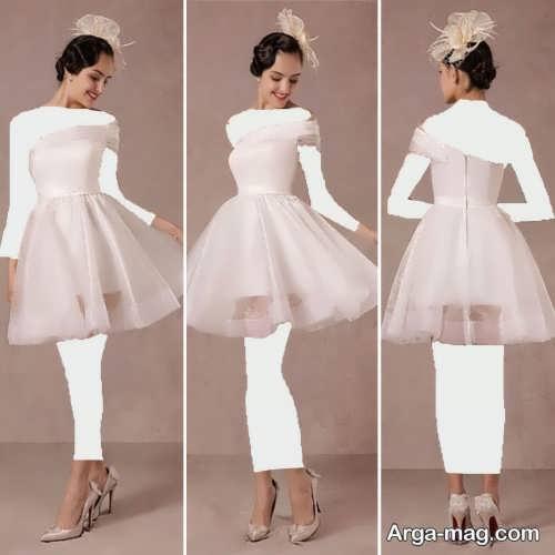 لباس عروس کوتاه و زیبا