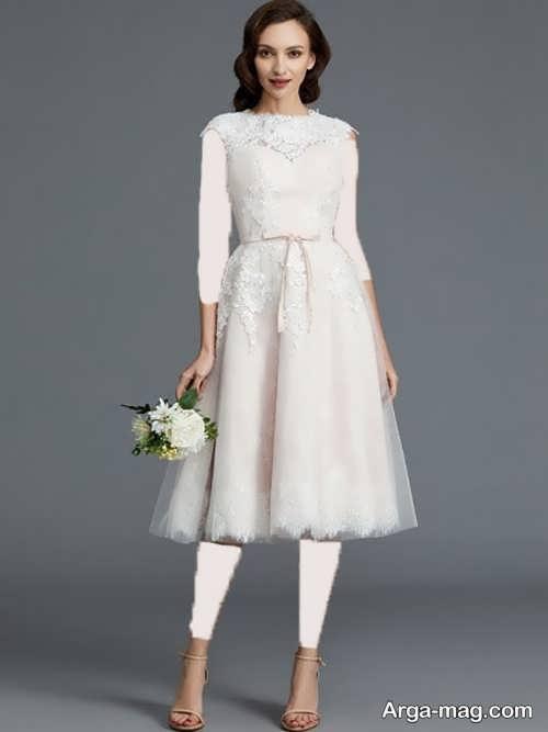 مدل لباس عروس 97 ساده و کوتاه