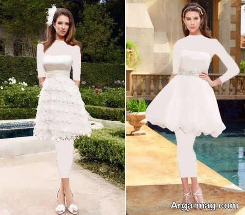 مدل لباس عروس کوتاه و جذاب