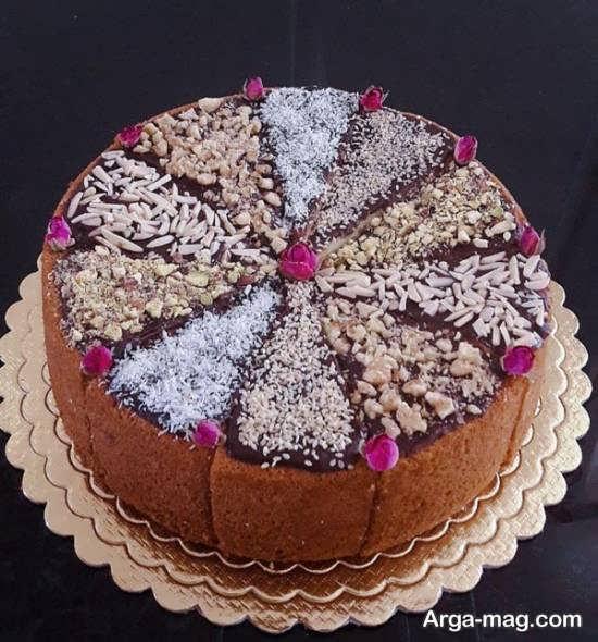 دیزاین عالی کیک بدون خامه