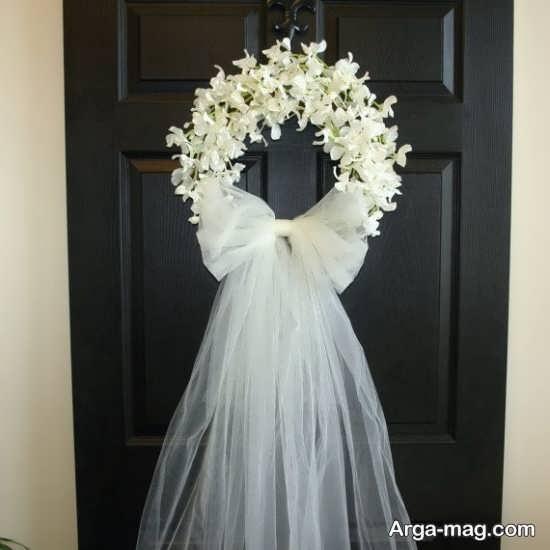 دیزاین هنرمندانه درب اتاق عروس