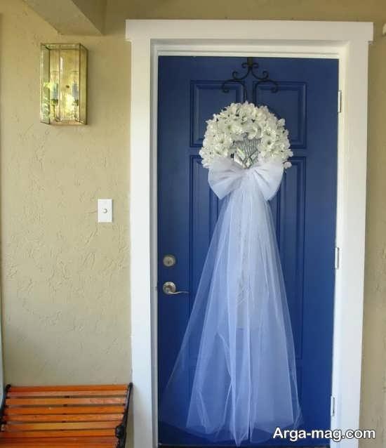 تزیینات درب اتاق عروس با ایده مد روز