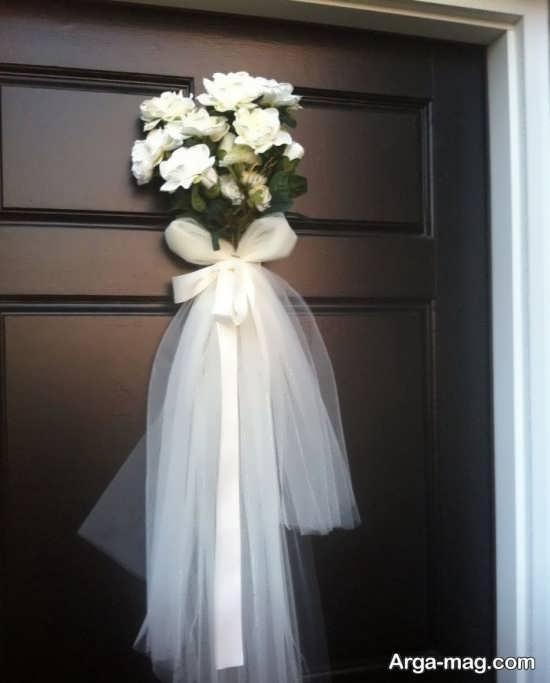 تزیینات درب اتاق عروس با ایده تماشای