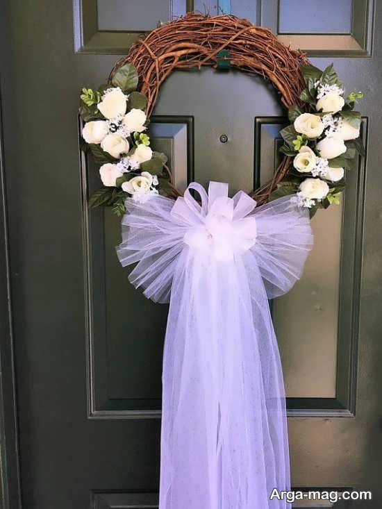 قشنگ ترین تزیین درب اتاق عروس