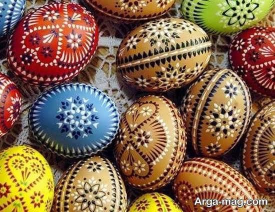 نقاشی تخم مرغ با طرح جذاب