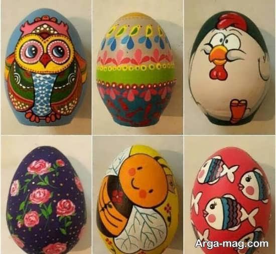 نقاشی تخم مرغ با طرح دوست داشتنی