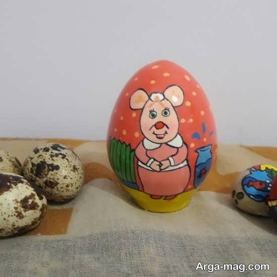 نقاشی جالب تخم مرغ هفت سین