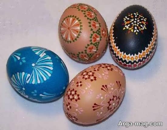 نقاشی هنرمندانه تخم مرغ هفت سین