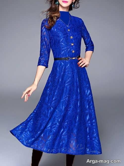 مدل لباس مجلسی آبی دخترانه 97