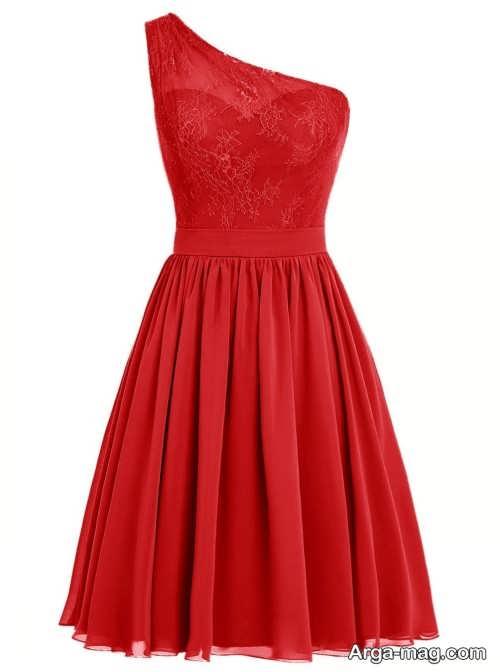 مدل لباس مجلسی قرمز و شیک دخترانه