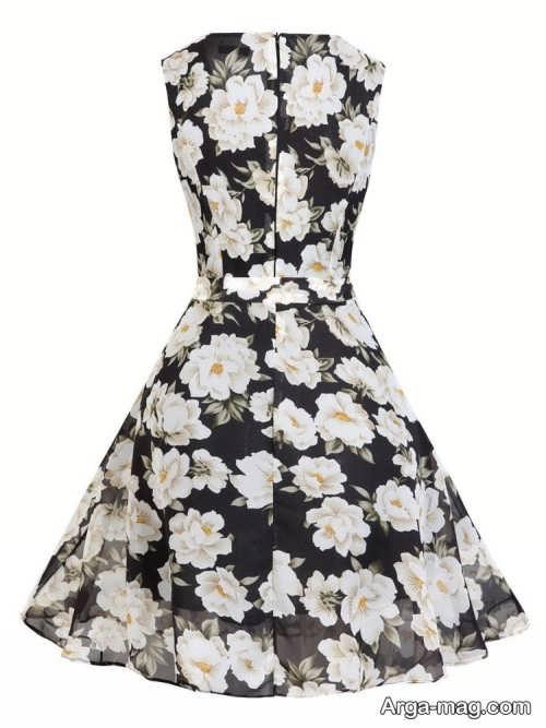 مدل لباس مجلسی دخترانه 97 طرح دار