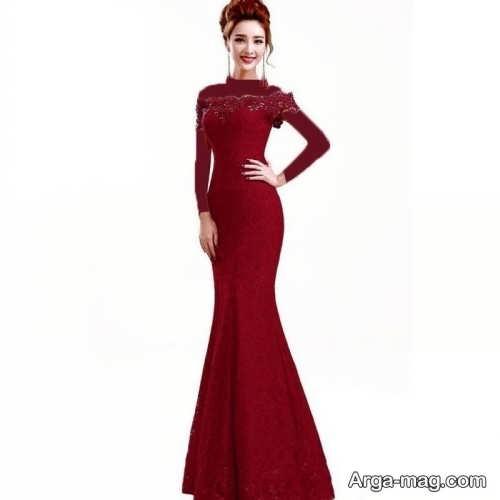 مدل پیراهن مجلسی دخترانه بلند