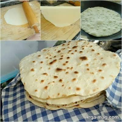 مراحل پخت نان لواش