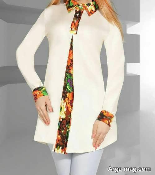 مدل مانتو سفید بهاره
