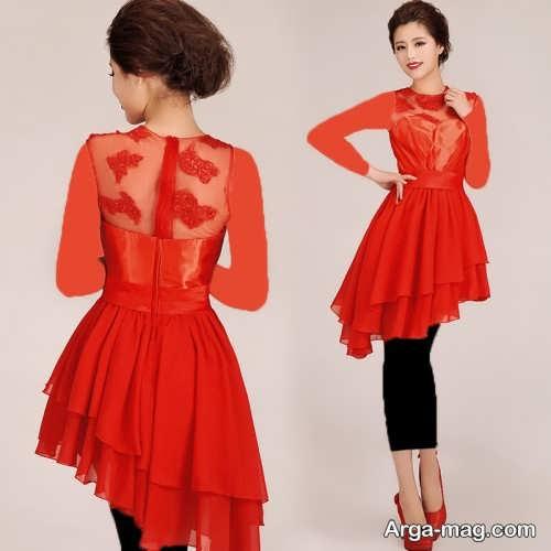 مدل لباس عقد کار شده با گیپور